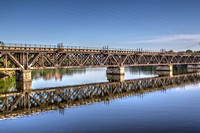 June - Railroad Trestle over the Mohawk River